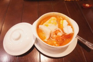 Sour and Spicy Seafood soup