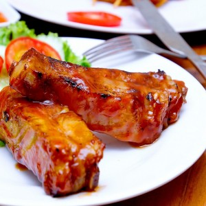 Grilled Rib with BBQ sauce