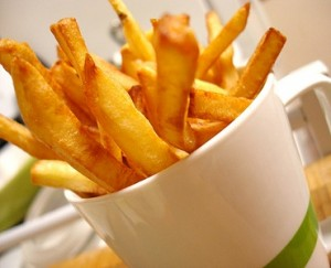 French fries with butter
