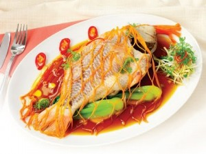 Steamed Red tilapia with soy sauce